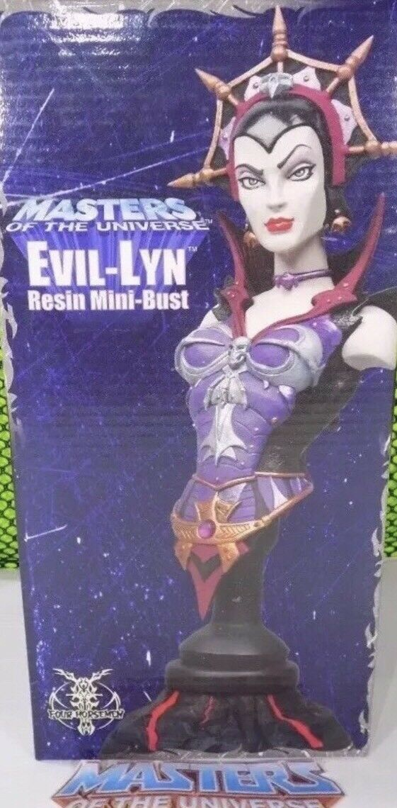 CLASSIC EVIL-LYN NECA Mini Bust MOTU Masters of the Universe RARE