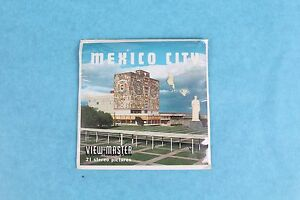 VINTAGE VIEW-MASTER 3D REEL PACKET B002 MEXICO CITY COMPLETE