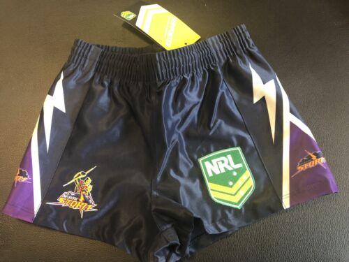 Melbourne Storm NRL Boys Rugby Shorts Age 6