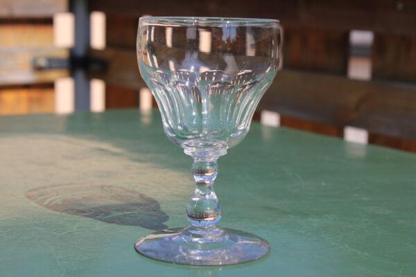 1 Antikes Biedermeier Weingläser Abrissglas Faccettiert 2.hälfte 19jhd. Sparen Sie 50-70%