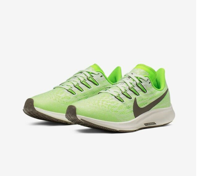 on feet images of get online classic Nike Air Zoom Pegasus 36 GS Electric Green Running Shoe 2019 Size 7 Women's