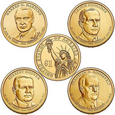 Mint Rolls Money 2014 P Warren Harding Presidential One Dollar Coins U.S