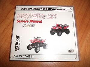2007 Arctic Cat ATV 250 DVX Utility DVX250 SHOP SERVICE REPAIR MANUAL 07 on CD Parts & Accessories Motorcycle Manuals & Literature