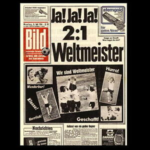 original bild zeitung vom 8 deutschland ist weltmeister wm 74 7 juli ebay. Black Bedroom Furniture Sets. Home Design Ideas