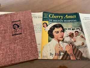 034-CHERRY-AMES-at-HILTON-HOSPITAL-034-hb-dj-RED-TWEED-EXCELLENT-CONDITION