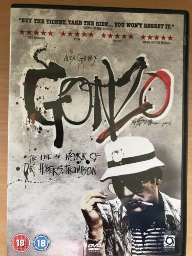 1 of 1 - Gonzo - The Life and Work of Dr. Hunter S. Thompson ~ 2009 Documentary UK DVD