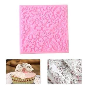 Lace Cake Decorating Silicone Mold Mould Mat Sugar Fondant Craft Baking Tool