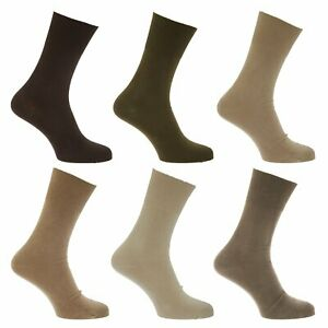 1-Pair-Mens-Plain-Coloured-99-Cotton-STAY-UP-Diabetic-Friendly-Socks-Size-6-11
