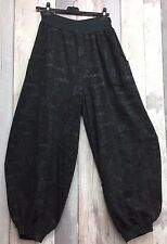 "Sarah Santos Charcoal AW16 Autumn Balloon Trousers Size L waist up to 44"""