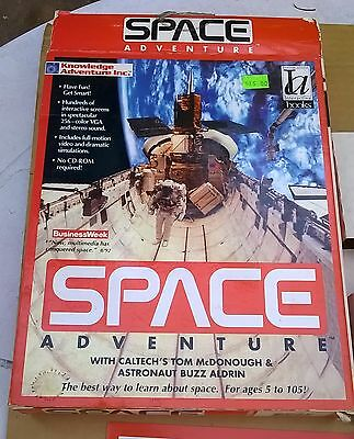 "Space Adventure with Buzz Aldrin by Knowledge Adventures Inc. 3.5"" Disks IBM"