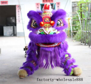 Folk-Art-Lion-Dance-Mascot-Chinese-Costume-Wool-Southern-Lion-For-Two-Adult-Suit