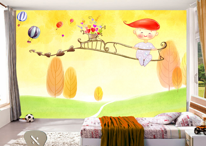 3D Pretty Tree Boy Cartoon 6344 Wall Paper Wall Print Decal Wall AJ WALLPAPER CA