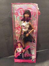 2008 Mattel Barbie AA FASHION FEVER ROCK STAR NIKKI African American NRFB M9323