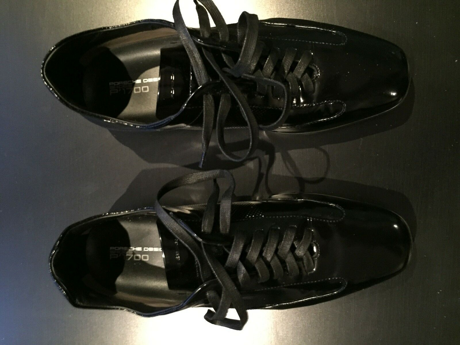 Porsche Design Tokyo L15 P1700 Black Leather shoes EU40 Made in  NEW