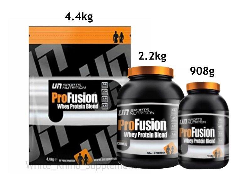 UN Sports Profusion Protein whey Powder whey Protein 908g 2.2g 4.4g strawberry vanilla 6ab322