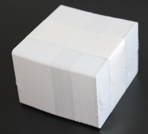 100 PVC Chipkarten, weiß mit NTAG216 NFC kontaktlos Chip