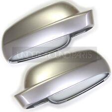 METALLIC REFLEX SILVER LEFT & RIGHT DOOR MIRROR COVERS CAPS VW GOLF BORA PASSAT