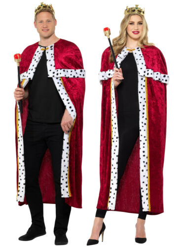 Adults Royal Cloak Accessory Fancy Dress Costume Props King Queen Outfit