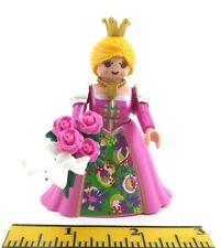 PLAYMOBIL-Custom-New-Princess-Lady-Magenta-Pink-Dollhouse-Crown~Bouquet