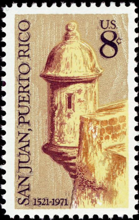 1971 8c San Juan, Puerto Rico, 450th Anniversary Scott