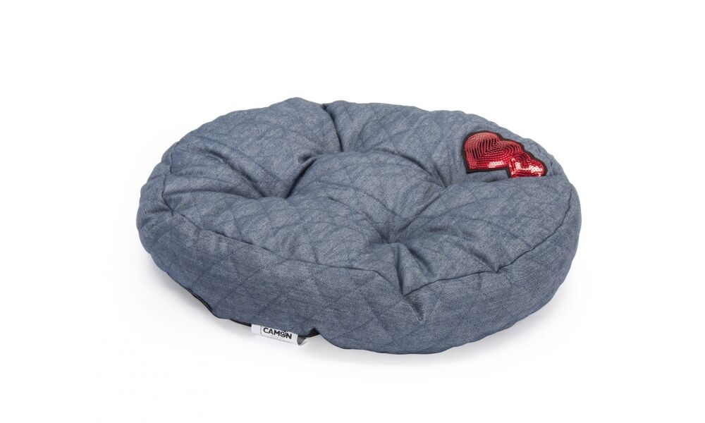 Cuscino redondo  Hearts  per cani e gatti 50xh10cm lettino matetrassino cuccia