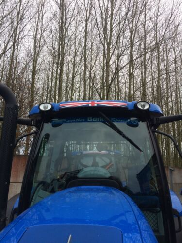 Genuine New Holland Tractor Union Jack Roof Decal Sticker AND PLASTIC COVER