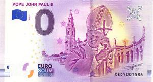 ALLEMAGNE Pope John Paul II, 2018, Billet 0 € Souvenir