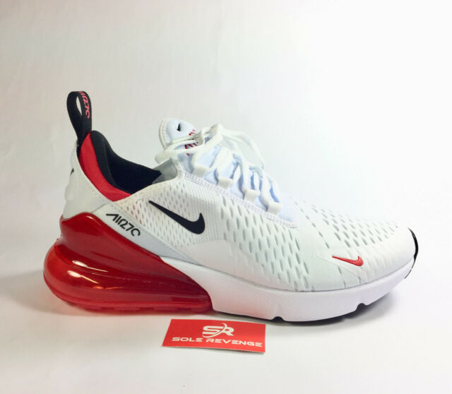 New NIKE AIR MAX 270 BV2523 100 WhiteBlackUniversity Red Mens Shoes s1