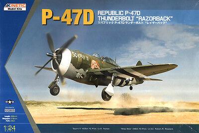"Kinetic Model #3208 - 1/24 USAAF Republic P-47D Thunderbolt ""Razorback""  - NEW!"