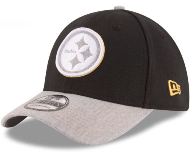 the best attitude 591e8 6d170 Pittsburgh Steelers New Era 39Thirty NFL Heather Logo M L Flex Fitted Cap  Hat