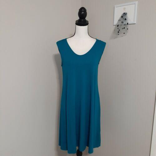 Eileen Fisher green Tank Dress Linen/viscose Petit
