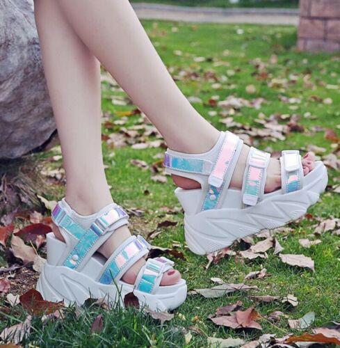 Details about  /Women Platform Sport Sandals Gladiator Wedge Heel Summer Creeper Slingback Shoes