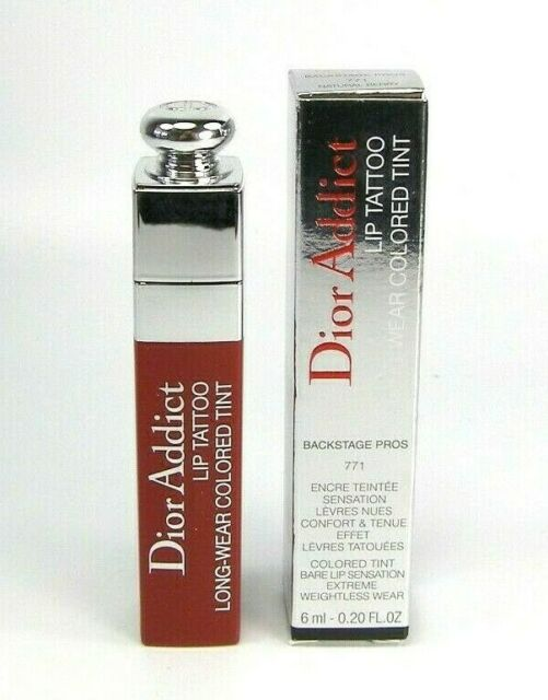 Unopened Dior Addict Lip Tattoo Colored Tint 771 Natural Berry Stain