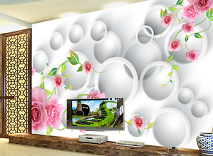 3D White Compass Flowers Paper Wall Print Wall Decal Wall Deco Indoor Murals