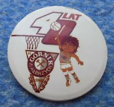 GORNIK WALBRZYCH BASKETBALL POLAND SECTION 40 ANNIVERSARY / 1946-1986/ PIN BADGE