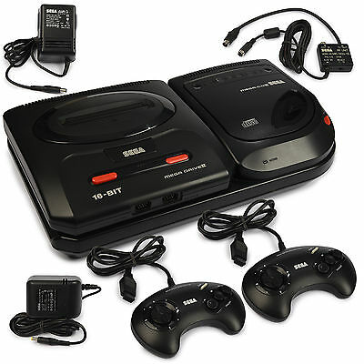 SEGA Mega CD II Konsole Mega Drive 2 Pad + Strom- / TV-Kabel