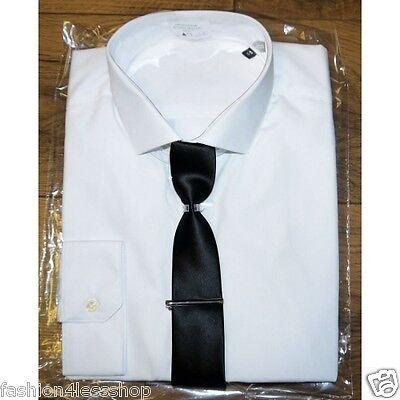 Men's New White ex M&S Shirt Slim Fit. Long Sleeve SIZE 15 - 18.5 SALE RRP £35