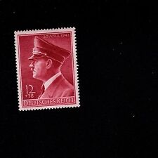 Nazi Germany 1942 Hitler Birthday Stamp Horizontal Gum Issue MNH J