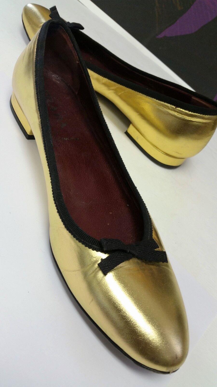 LANVIN EU Nero Leather Ballerinas, US 8 EU LANVIN 38 85c294