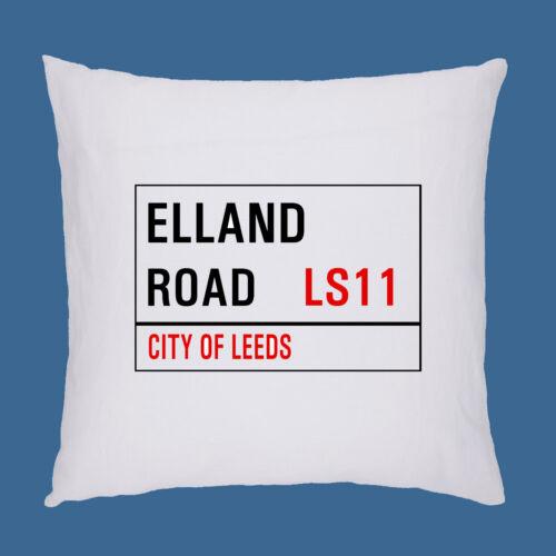 Leeds United Football Ground Street Sign Coussin//Oreiller Inc rembourrage