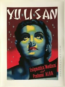 Hi-Q-Facsimile-of-1959-Yu-Li-San-Spiritualist-amp-Medium-Poster-Prof-Alba-Magic-Act