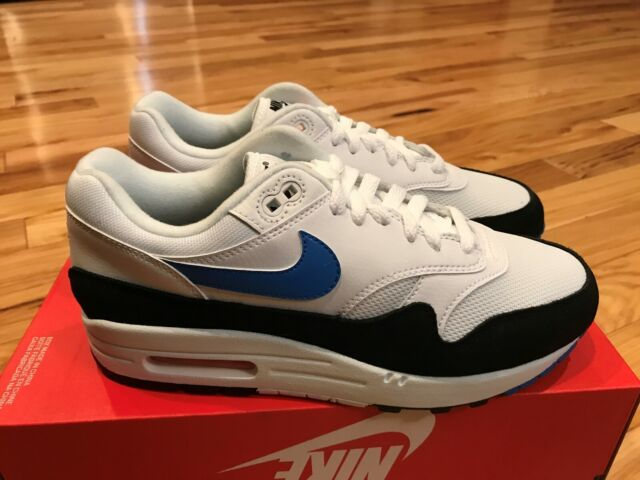 Nike Air Max 1 White Photo Blue Total Orange Ah8145 112 Mens Size 7
