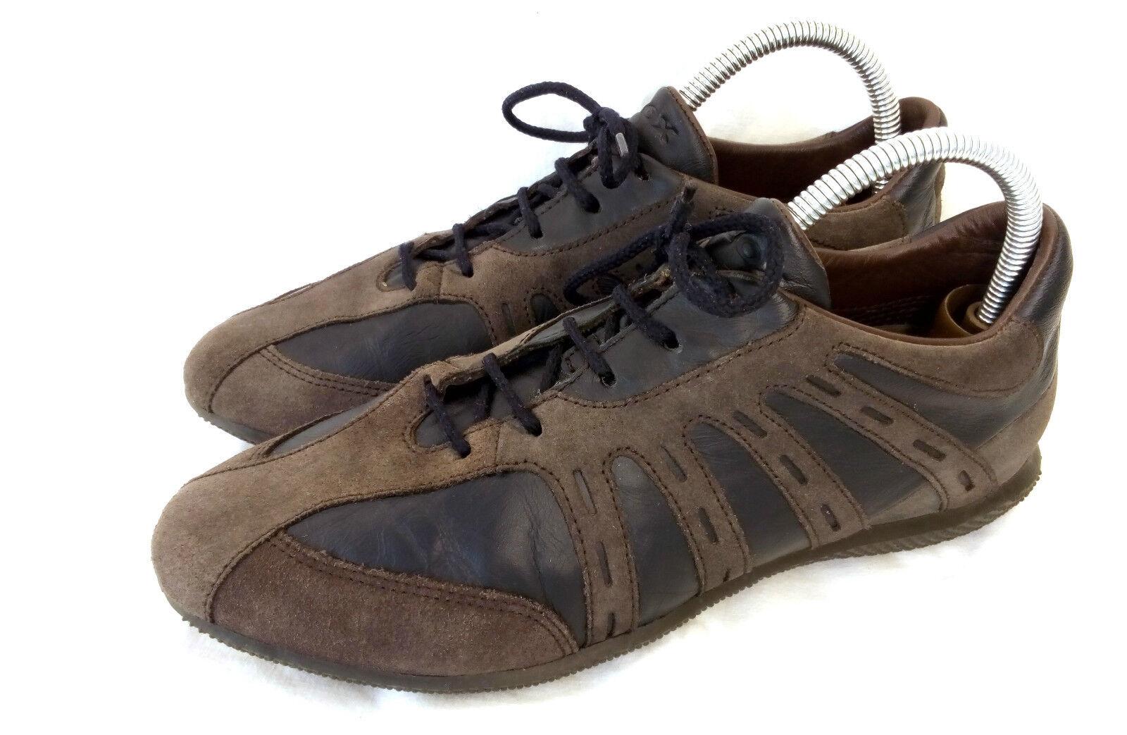 Geox SCARPE DONNA scarpe da ginnastica LACCI OXFORD MarroneeeE CAMOSCIO TG. 40 40,5 Top