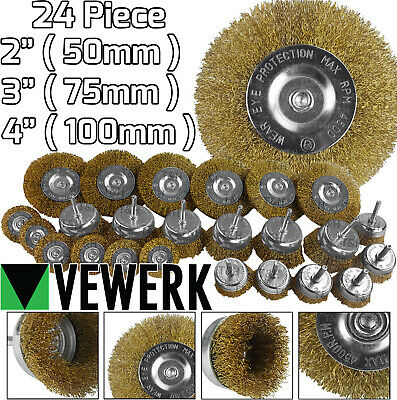 5Pcs Stainless Steel Polishing Brush Wire Wheel Brushes for Drill Rotary Tool BS