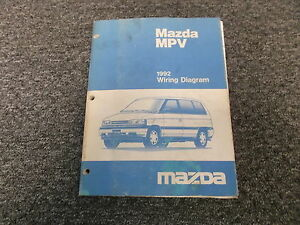 1992 Mazda MPV 4WD Electrical Wiring Diagram Supplement ...