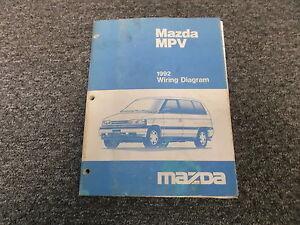 1992 Mazda    MPV    4WD Electrical Wiring    Diagram    Supplement Manual Book    Van      eBay
