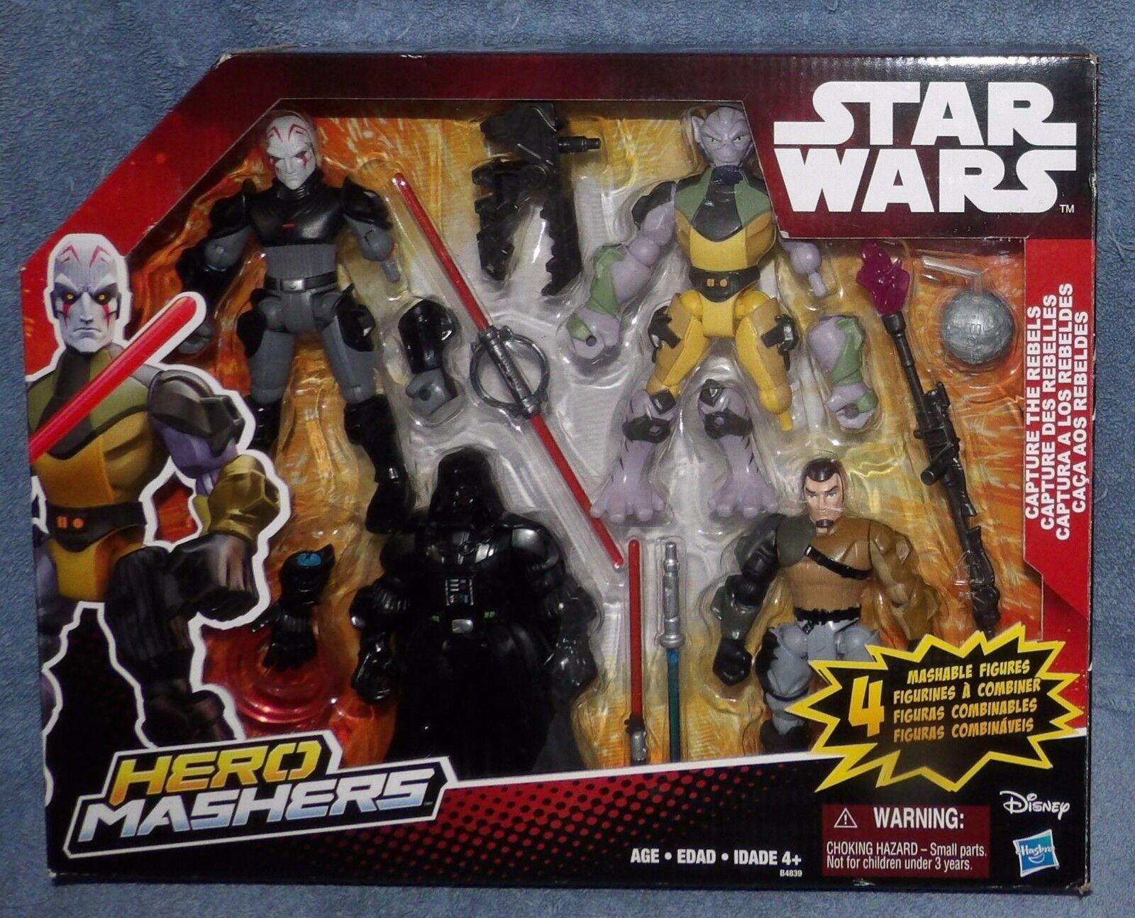 gran selección y entrega rápida Estrella Wars 2015 Hero mashers captura los los los rebeldes Set 4 Figuras  envío gratuito a nivel mundial