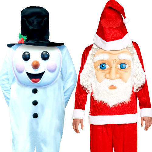 Christmas Jumbo Face Boys Fancy Dress Xmas Kids Childs Childrens Costume Outfits