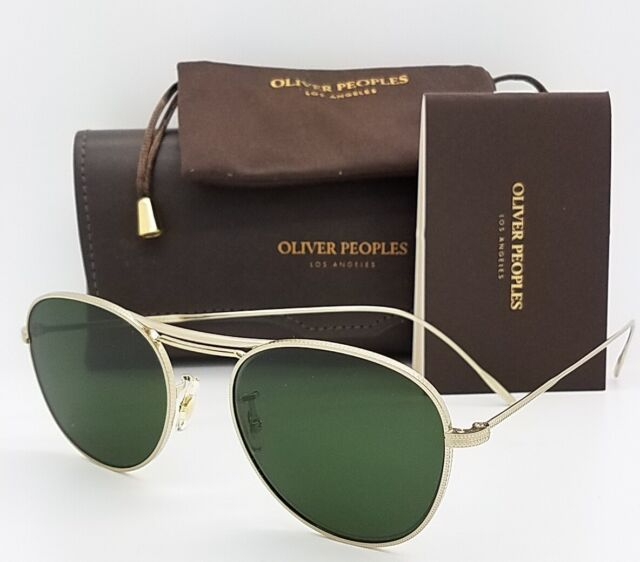 b024d02283 NEW Oliver Peoples Cade OV1226S 523671 52 Brushed Gold Dark Green AUTHENTIC  1226