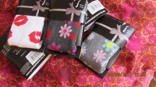 choice of 3 designs warm and cosy PAMELA MANN over the knee patterned socks